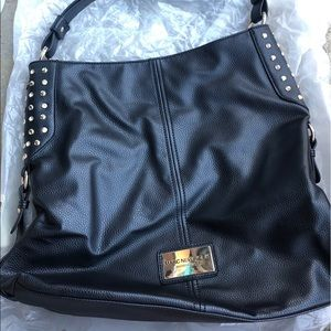 Marc New York Crystal Studded Faux Leather Tote
